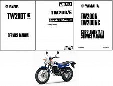 Buy 1987-2014 Yamaha TW200 Service Manual on a CD