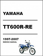 Buy 1997-2007 Yamaha TT600R / TT600RE Service Manual on a CD