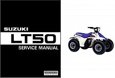 Buy 1984-2001 Suzuki LT50 QuadRunner 50 ATV Service Manual on a CD