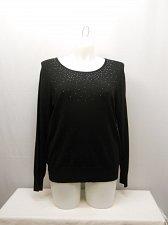 Buy PLUS SIZE 20 Womens Sweater GEORGE Solid Black Embellished Scoop Neck Long Sleev