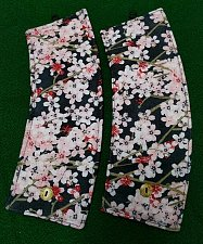 Buy coffee cozy set of 2 insulated handmade cherry blossoms on black background