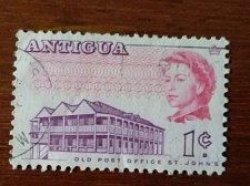 Buy Antigua stamp 1v Old post office, St. Johns