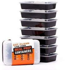 Buy 2 Compartment Meal Prep Containers - Certified BPA-free - Reusable, Washable,
