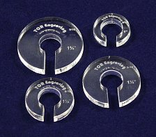 "Buy 4 Piece Set Offset 9/16"" Hole - ~1/4"" thick -Hopper Foot Extenders"