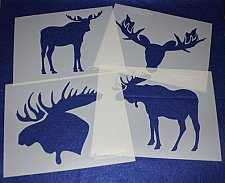 Buy Moose Stencils 4 Pc Set Painting/Crafts/Stencil/Template -Mylar 14 Mil