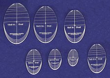 "Buy 7 Piece Quilt Ovals Templates 1/4 "" -4""-10"" -Multi Purpose"