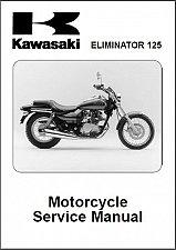 Buy 1998-2007 Kawasaki Eliminator 125 Service Manual on a CD