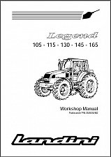 Buy Landini Legend 105 115 130 145 165 Tractor Repair Service Workshop Manual CD
