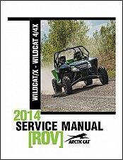 Buy 2014 Arctic Cat Wildcat X / Wildcat 4 - 4X ROV Service Repair Workshop Manual CD