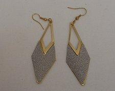 Buy Womens Fashion Drop Dangle Earrings Gold Tones Glitter ECLIPSE French Hooks