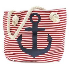 Buy Large Red Stripe Nautical Anchor Bag With Rope Handle Perfect Holiday Bag
