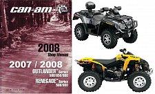 Buy 2007-2008 Can-Am Outlander 500 650 800 / Renegade 500 800 ATV Service Manual CD