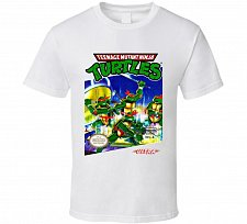 Buy NES TMNT Box Art T Shirt Nintendo Teenage Mutant Ninja Turtles Video Game shirt