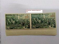 Buy Perforation error Ecuador 1939 the unissued rectangular Columbus Stamp pair