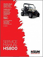 Buy Hisun HS800 UTV Service Repair / Maintenance Manual CD - HS 800 HS800UTV