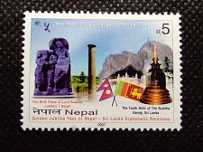 Buy Nepal 1v mnh StampGolden Jubilee Year of Nepal-Sri Lanka Diplomatic Relations