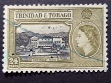 Buy Trinidad and Tobago 1v Used Stamp 1953 SG 275 Government House