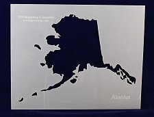 Buy State of Alaska Stencil -14 mil Mylar Painting/Crafts