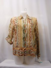 Buy Women Button Down Shirt ALFRED DUNNER Multi Color SIZE 16 Long Roll Tab Sleeves