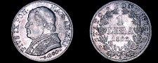 Buy 1866-XXIR Italian States Papal States 1 Lira World Silver Coin - Pius IX