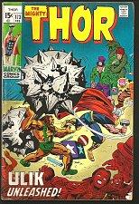 Buy THOR #174 Marvel Comics ULIK The UNLEASHED 1970 Stan Lee Jack Kirby Bill Everett