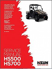 Buy Hisun HS500 HS700 ( HS500UTV HS700UTV ) UTV Service Manual on a CD