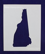 """Buy State of New Hampshire Stencil 8"""" x 10"""" -14 mil Mylar Painting/Crafts"""