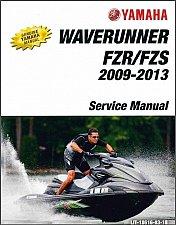 Buy 2009-2013 Yamaha WaveRunner FZR / FZS JetSki ( GX1800 ) Service Manual on a CD