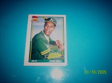 Buy 1991 Topps Traded card of ernie riles athletics #97T mint