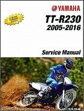 Buy 2005-2016 Yamaha TT-R230 Service Manual on a CD -- TTR230T TTR230