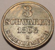 Buy Oldenburg 1866-B 3 Schwaren~Rare Only 36,000 Minted~Free Shipping