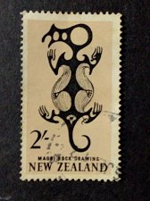 Buy New Zealand 1v used 1967 Maori Rock Drawing SG 796