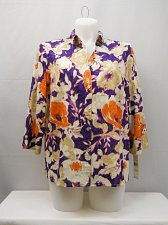 Buy Womens Button Down Shirt ALFRED DUNNER SIZE 20 Multi Colored Floral Cotton