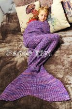 Buy Knitted mermaid tail blanket stunning gift idea for kids & adults luxury purple