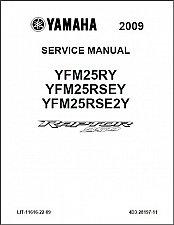 Buy 2009-2012 Yamaha YFM250 Raptor 250 Service Manual on a CD