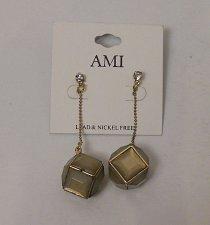 Buy Women Drop Dangle Fashion Earrings Rhinestones Squares Chains AMI Push Back