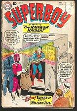 Buy SUPERBOY #84 DC Comics 1960 Silver Age Ad for 1st JLA too Rainbow Raider+Wm Tell