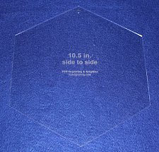 """Buy Hexagon 10 1/2"""" Side to Side - No seam 1/8"""" - Acrylic- Quilt/Sew/Craft"""