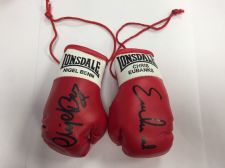 Buy Chris Eubank v Nigel Benn Autographed Mini Boxing Gloves