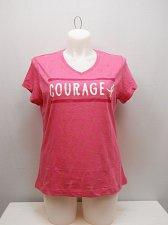 Buy SIZE M 8-10 Womens T-Shirt SUSAN G KOMEN Pink COURAGE Breast Cancer Awareness