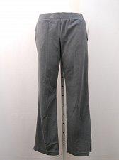 Buy SIZE L Womens Sweat Track Pants DANSKIN NOW Gray Straight Leg Elastic Waist