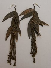 Buy Womens Fashion Drop Dangle Earrings Copper Tones Leaves PRINCESS French Hooks
