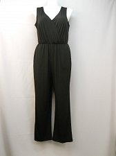 Buy PLUS SIZE 1X Jumpsuit NY COLLECTION Black Sleeveless Surplice Bodice Wide Legs