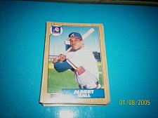 Buy 1987 Topps Traded Baseball CARD OF ALBERT HALL BRAVES #T41 MINT