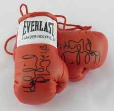 Buy Autographed Mini Boxing Gloves Evander Holyfield highly collectable
