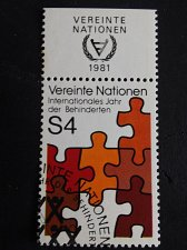 Buy UNO Vienna Stamp 1981 Int. Year of the disabled with FDC Cancellation