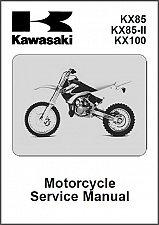 Buy 2001-2010 Kawasaki KX85 KX85-II KX100 Service Manual on a CD