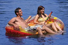 "Buy :10060U - EZ Breeze Duo Couple 84"" x 47"" Inflatable Water Seat 20 Gauge K80"