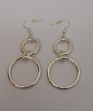 Buy Women Fashion Drop Dangle Hoop Earrings Silver Tones Hook Fasteners KANAMINA