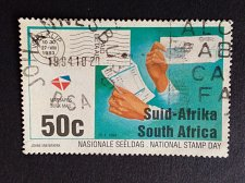 Buy South Africa 1 v used stamp 1994 Michel 940 Hands holding invoice and bulk
